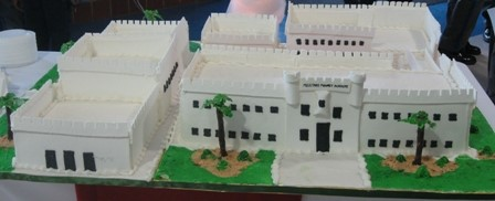 Military Magnet Academy Cake